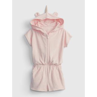 GAP Dětské šaty hood terry romper dámské růžová 12-18M