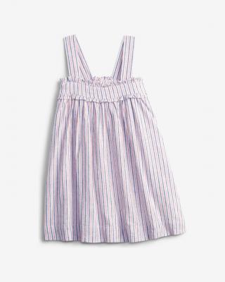 GAP Linen Stripe Šaty dětské Růžová dámské 5 let