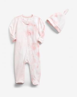 GAP Overal dětský Růžová dámské 3-6 měsíců