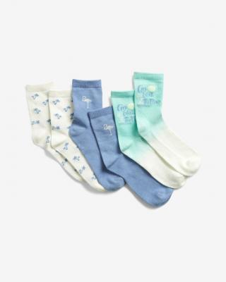 GAP Ponožky 3 páry dětské Modrá Bílá dámské L