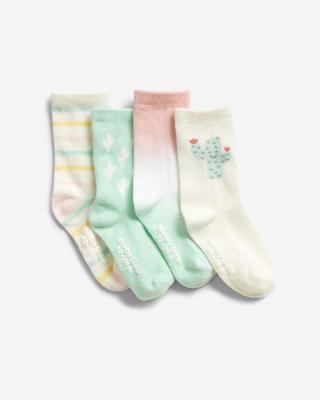 GAP Ponožky 4 páry dětské Vícebarevná dámské 2-3 roky