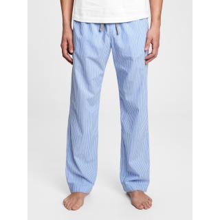 GAP Pyžamové kalhoty pajama pants in poplin pánské modrá XL