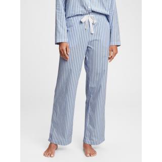 GAP Pyžamové kalhoty poplin pajama pants dámské modrá L