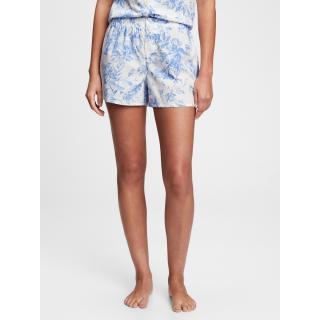 GAP Pyžamové kraťasy poplin shorts dámské modrá XL