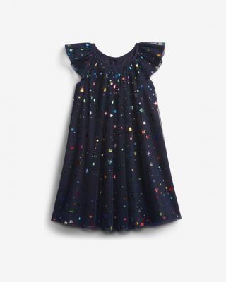 GAP Šaty dětské Modrá dámské 12-18 měsíců
