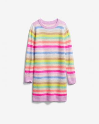 GAP Šaty dětské Růžová Vícebarevná dámské XS