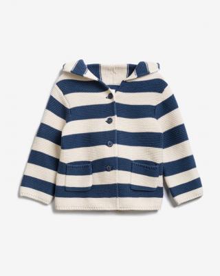 GAP Svetr dětský Modrá Bílá pánské 12-18 měsíců