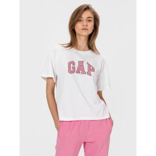 GAP Tričko Logo dámské bílá   růžová S