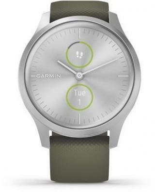 Garmin vívomove Style Silver/Moss Green Silicone pánské