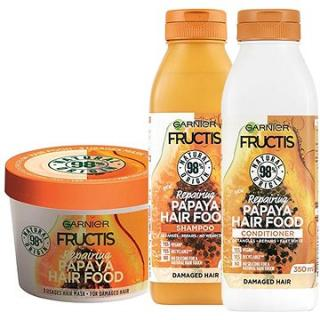GARNIER Fructis Hair Food Repairing Papaya Set