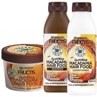 GARNIER Fructis Hair Food Smoothing Macadamia Set