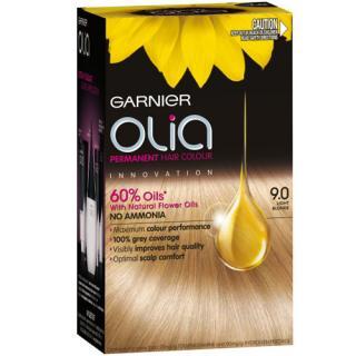 Garnier Permanentní olejová barva na vlasy bez amoniaku Olia - SLEVA - poškozená krabička 9.0 světlá blond