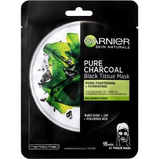 GARNIER Pure Charcoal Purifying & Hydrating Pore-Tightening Black Tissue Mask 28 g