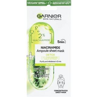 GARNIER Skin Naturals Ampoule Sheet Mask Niacinamide and Kale Extract 15 g
