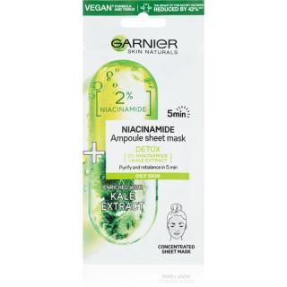 Garnier Skin Naturals plátýnková maska s čisticím a osvěžujícím účinkem 15 g dámské 15 g