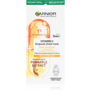 Garnier Skin Naturals plátýnková maska s energizujícím účinkem 15 g dámské 15 g