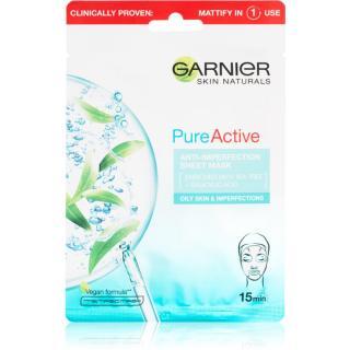 Garnier Skin Naturals Pure Active plátýnková maska s čisticím efektem 28 g dámské 28 g