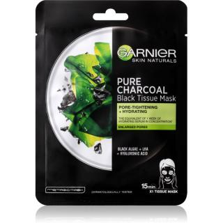Garnier Skin Naturals Pure Charcoal černá textilní maska s extraktem z mořských řas 28 g dámské 28 g