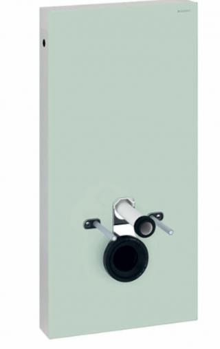 Geberit MONOLITH pro závěsné WC s přímým hrdlem, mátově zelené sklo/hliník, připojení vody dole - 131.021.SL.5