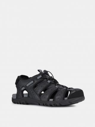 Geox černé kožené pánské sandály - 42 pánské černá 42