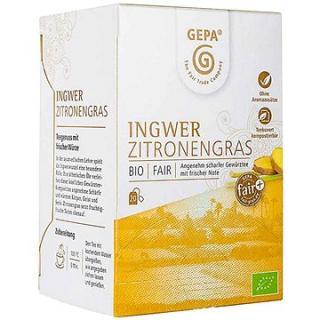 Gepa BIO Fairtrade zázvorový čaj s citrónovou trávou, 20 x 1,5 g