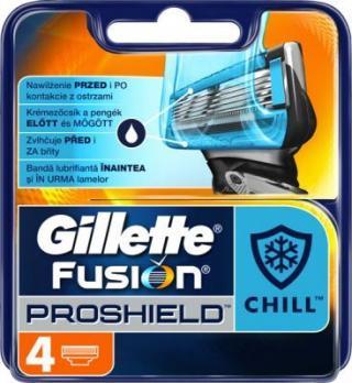 Gillette Náhradní hlavice Fusion ProShield Chill 4 ks pánské
