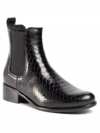 Gino Rossi Kotníková obuv s elastickým prvkem 8484-05C Černá dámské 40
