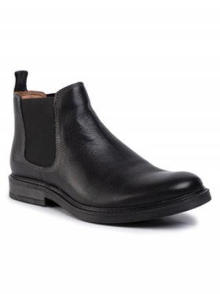 Gino Rossi Kotníková obuv s elastickým prvkem MB-YURI-04 Černá pánské 44