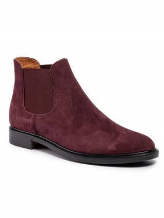 Gino Rossi Kotníková obuv s elastickým prvkem Nevia DSI542-772-0760-7700-0 Bordó dámské 38