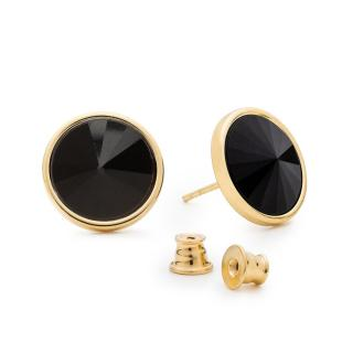 Giorre Womans Earrings 35966 Gold/Black dámské Other One size