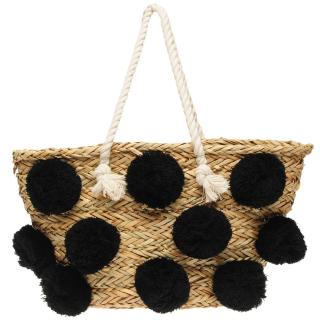 Glamorous Pom Pom Beach Bag Other One size