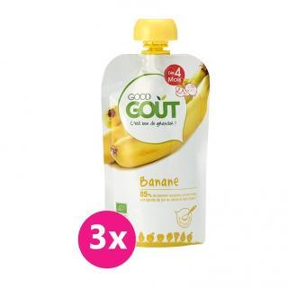 GOOD GOUT BIO Banán 3x120 g žlutá