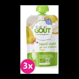 GOOD GOUT BIO Mandlový dezert s hruškou 3x90 g zelená