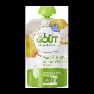 GOOD GOUT BIO Mandlový dezert s hruškou 90 g zelená