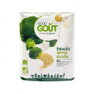 GOOD GOUT BIO Quinoa s brokolicí a ricottou 220 g zelená