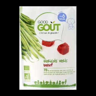 GOOD GOUT BIO Zelené fazolky s hovězím masem 190 g zelená