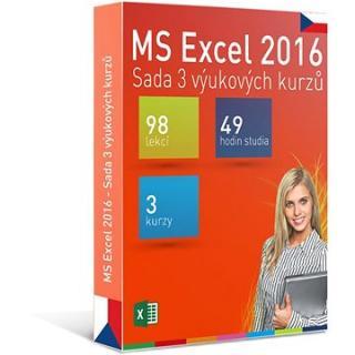 GOPAS MS Excel 2016 - 3 samostudijní výukové kurzy na 365 dní CZ
