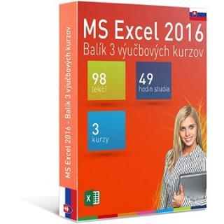 GOPAS MS Excel 2016 - 3 samostudijní výukové kurzy na 365 dní SK