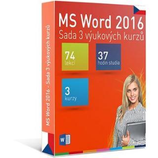 GOPAS MS Word 2016 - 3 samostudijní výukové kurzy na 365 dní CZ