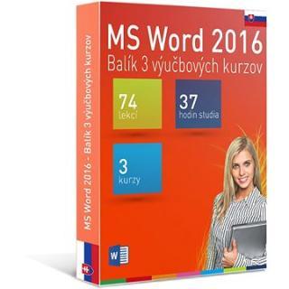 GOPAS MS Word 2016 - 3 samostudijní výukové kurzy na 365 dní SK