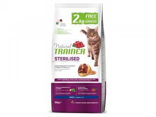 Granule Trainer Natural Cat Sterilised sušená šunka s hráškem 8 2kg
