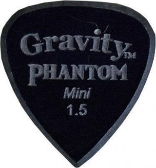 Gravity Picks Classic Pointed Mini 1.5mm Master Finish Phantom Black
