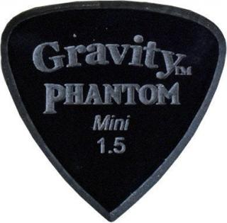 Gravity Picks Edge Mini 1.5mm Master Finish Phantom Black