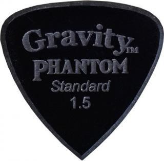 Gravity Picks Edge Standard 1.5mm Master Finish Phantom Black