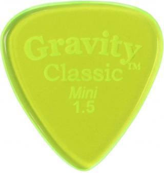 Gravity Picks GCLM15P Classic Mini  1.5mm Polished Fluorescent Green