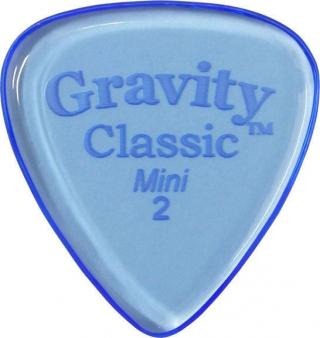 Gravity Picks GCLM2P Classic Mini  2.0mm Polished Blue