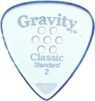 Gravity Picks GCLS2MM Classic Standard 2.0mm Multi-Hole Grip Blue
