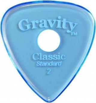 Gravity Picks GCLS2PR Classic Standard 2.0mm Round Grip Hole Polished Blue