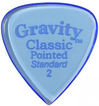 Gravity Picks GCPS2P Classic Pointed Standard 2.0mm Polished Blue