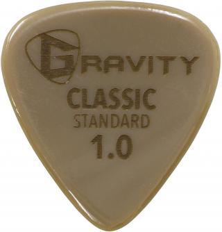 Gravity Picks GGCLS10 Classic Gold Standard 1.0mm Polished Tan Brown